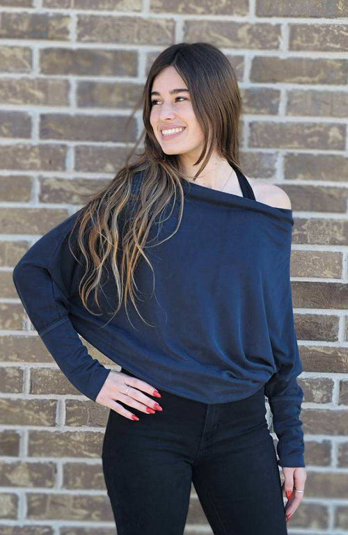 Brody Charcoal Dolman Sleeve Sweater