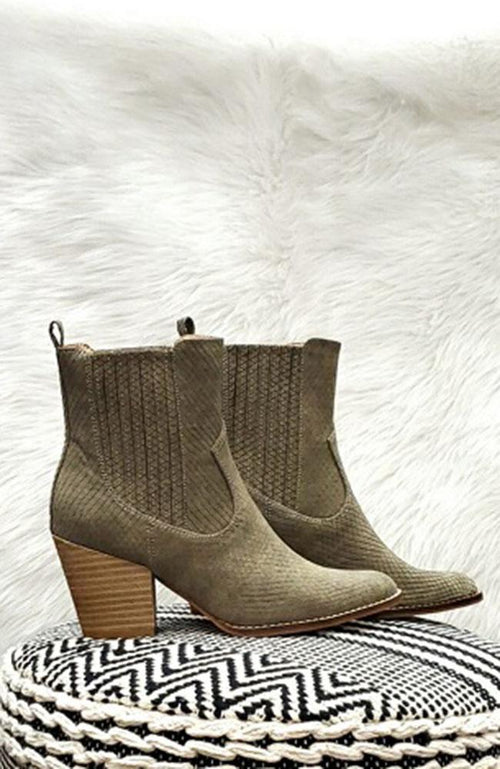 Zenana Mint Green Ankle Boots - THE WEARHOUSE