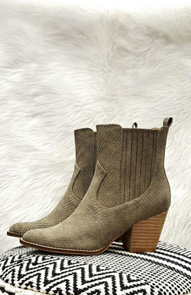 Zenana Mint Green Ankle Boots