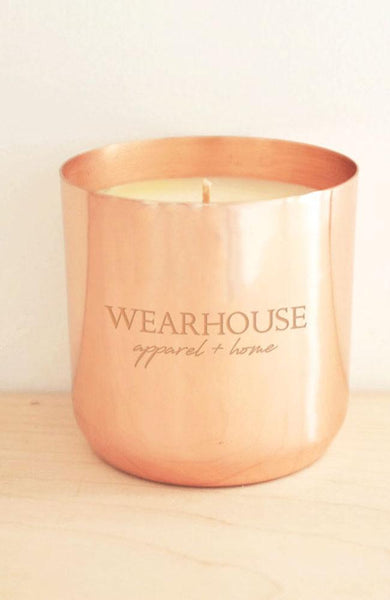 Wearhouse Soy Repurpose Copper Candle - THE WEARHOUSE