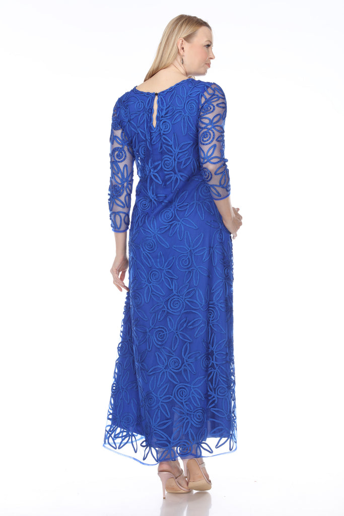 1618 SOUTACHE LONG SLEEVE DRESS