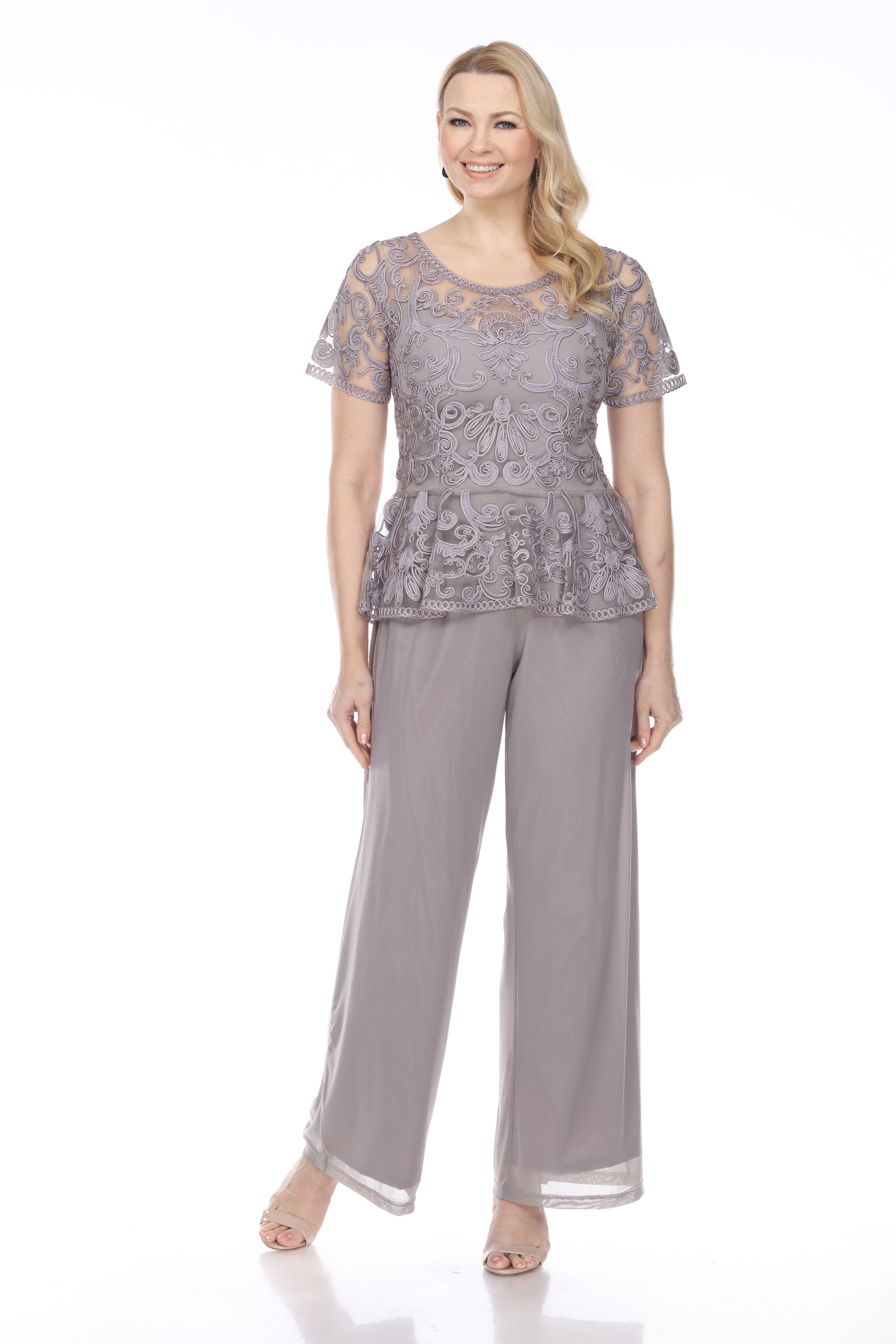 1902 PEPLUM TOP WITH PANTS SET