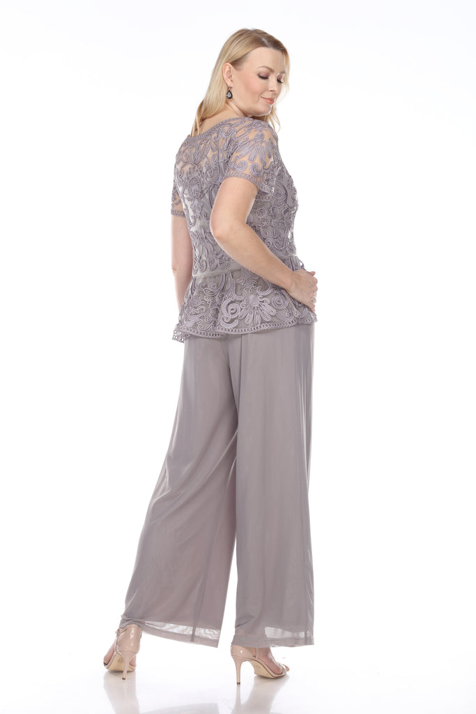 1902 PEPLUM TOP WITH PANTS