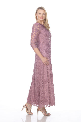 D1104 Rose Lace Three Pieces Skirt Set