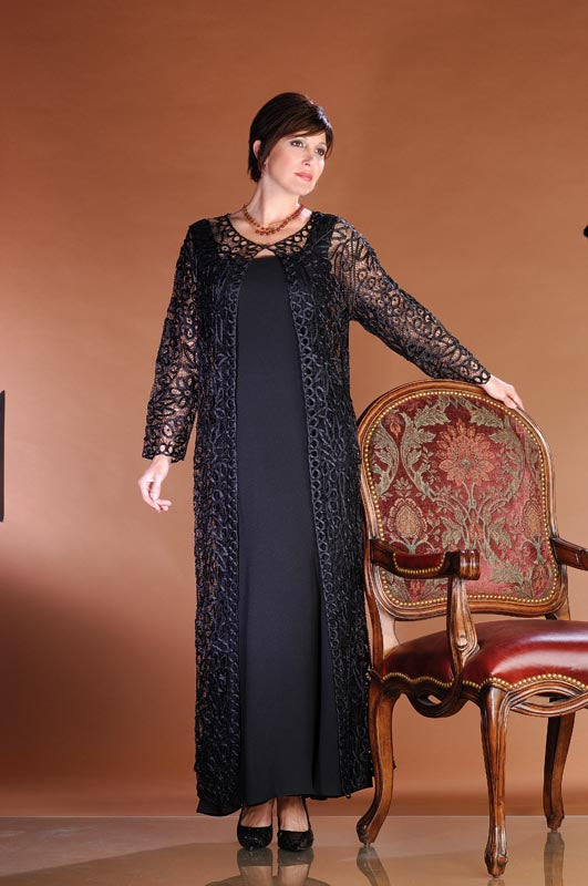 C12605 Signature Beaded Duster with Dress