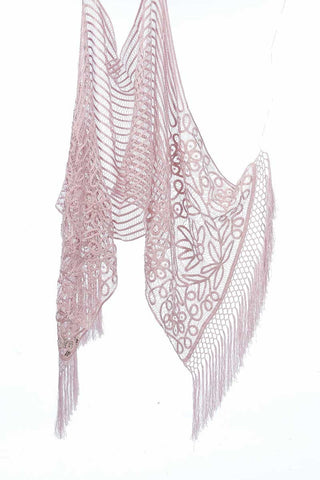 C300 SOFT SILK LACE TRIANGLE SHAWL