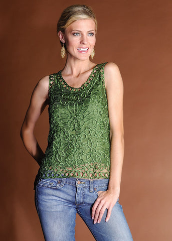 C28S Hand Crocheted Lace Vest