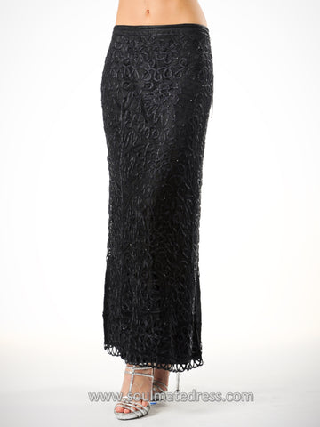 C401 Beaded Crochet Skirt