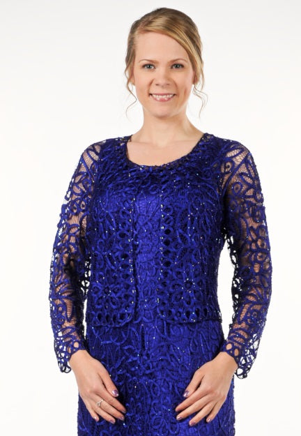 C402 Beaded Crochet Jacket