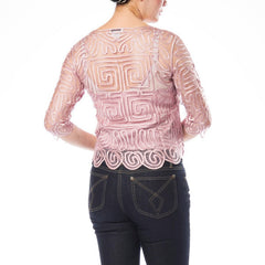 C712 HAND CROCHET LACE TOP
