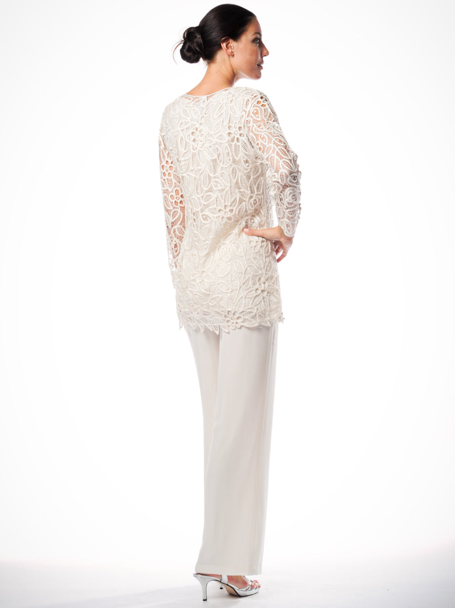 C80703 Hand Crochet Tunic with Pants Set