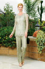 C80783 Unique Beaded Handmade Tunic with Pants