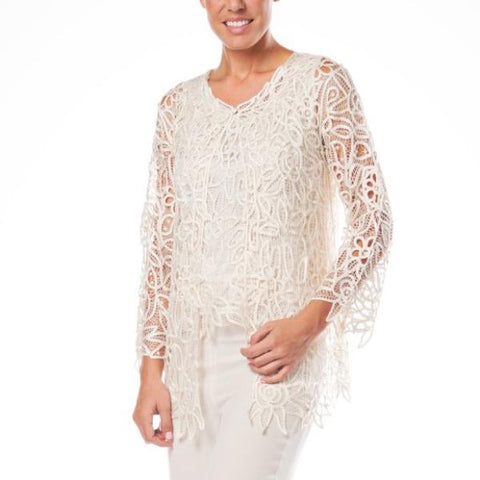 C809 BEADED HAND CROCHET LACE JACKET