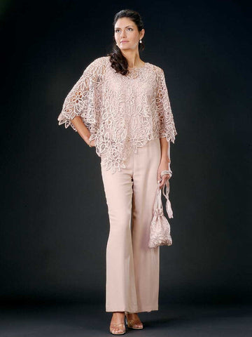 C881 Croched Lace Poncho