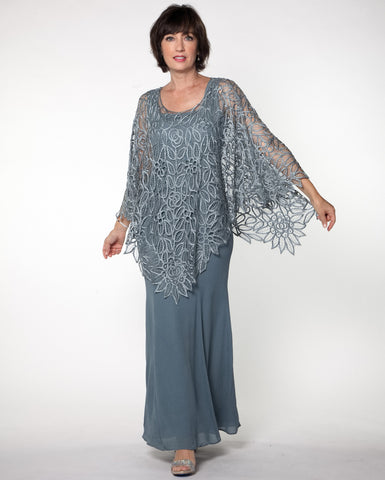 C881 Silk Croched Poncho