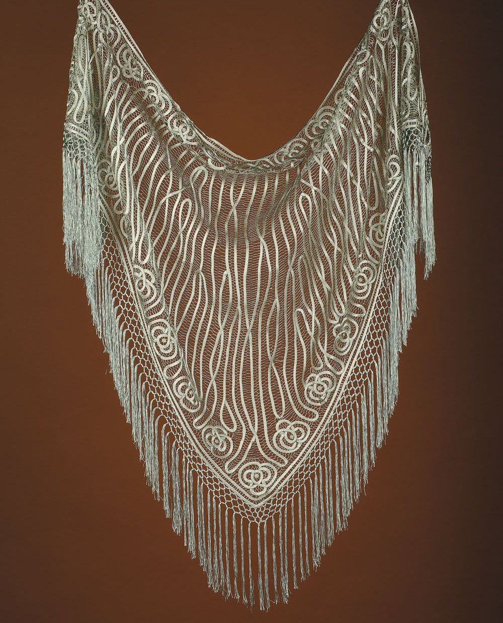 C9020 TRIANGLE SHAWL BEADED