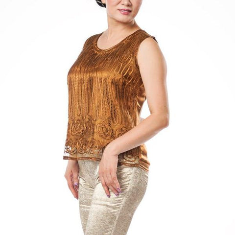 C905 Beaded Silk Top