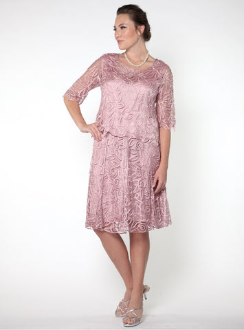 D8785 Bell-Sleeve Tunic Top and Skirt