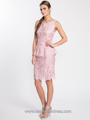 1506 Soutache Lace Three Piece Skirt Set