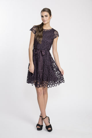 D1308 Lace Mini Cocktail Party Dress