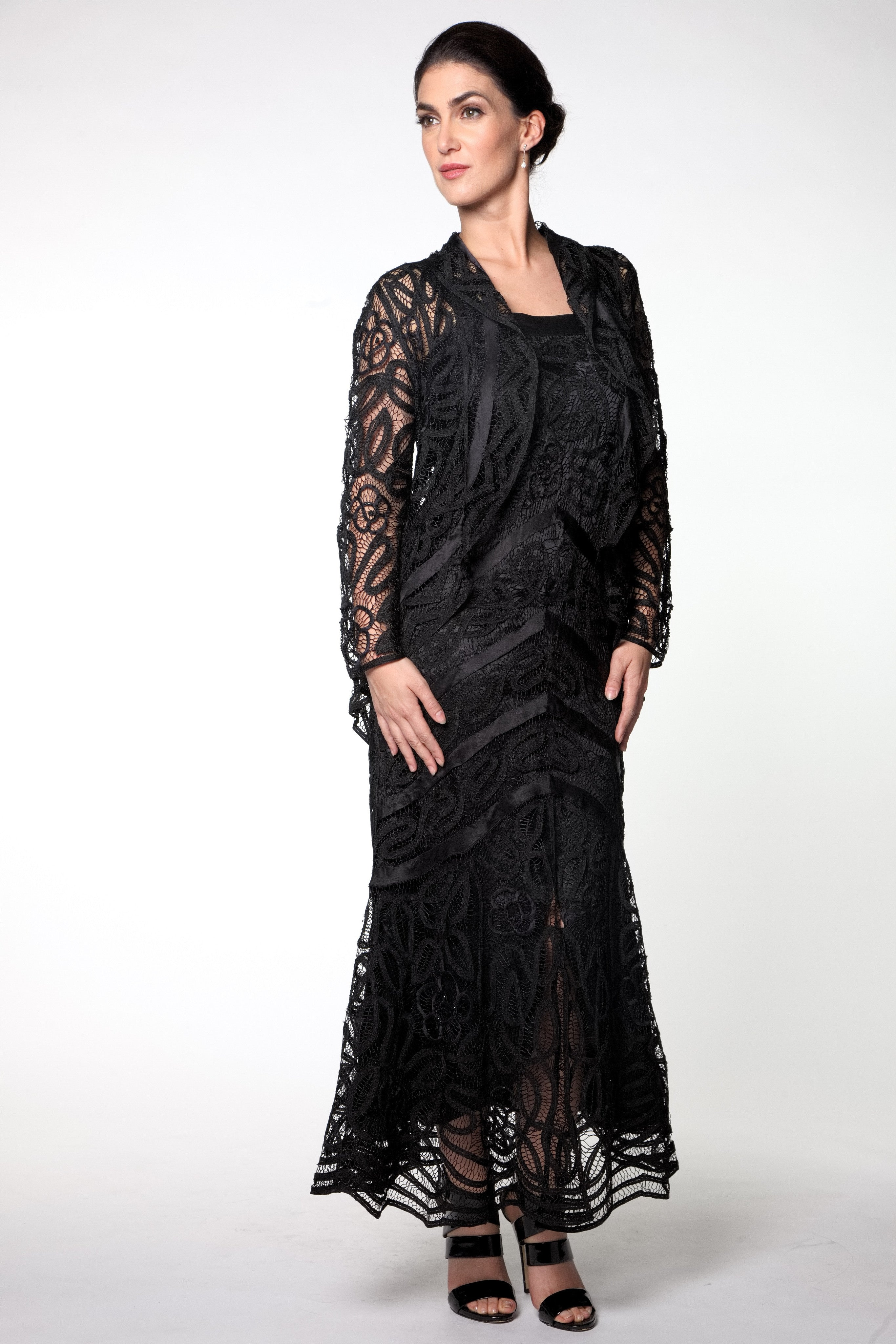 D7069 Hand Croched Dress and Jacket