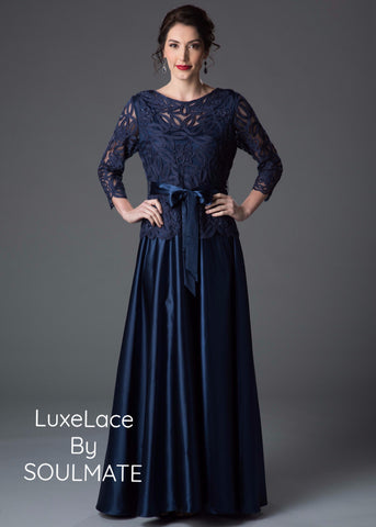 Beaded Embroidered Evening Gown