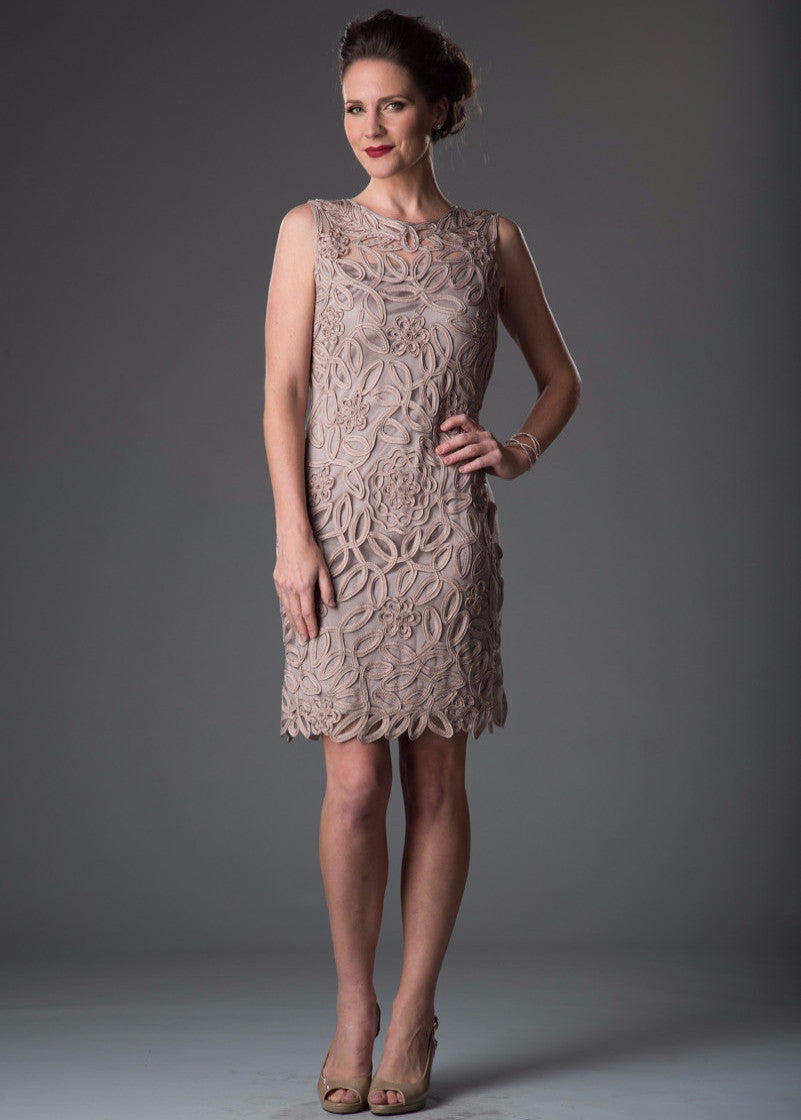 1612 Soutache Sheath Dress