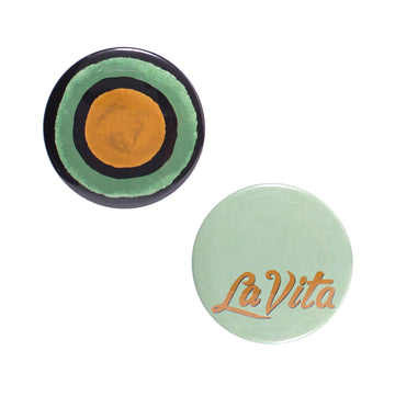 La Vita Button Mirror Set