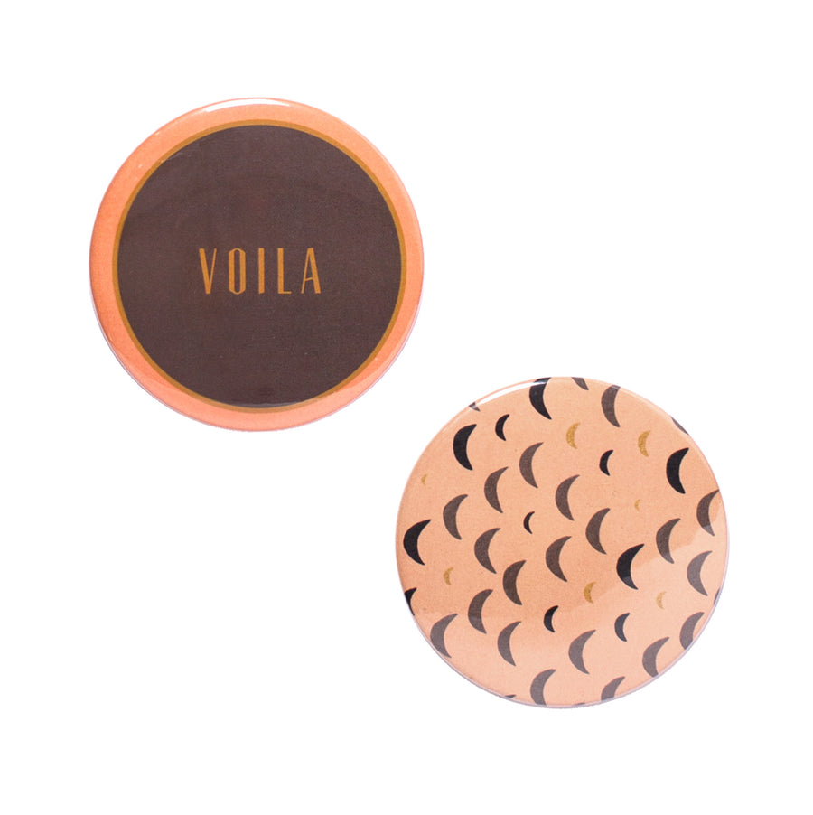 Voila Button Mirror Set