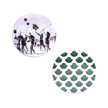 Archerie Button Mirror Set