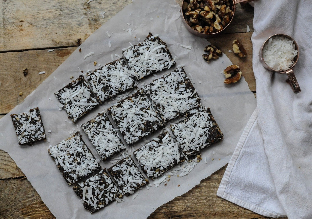 MEATLESS MONDAY: Raw Fig-Walnut Snack Squares