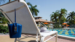 hotel pool chair safe with combo and key access