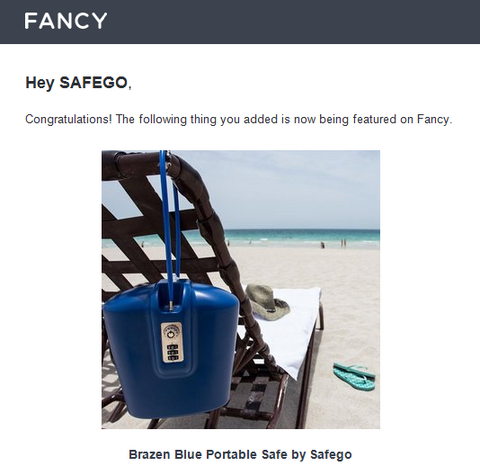 Blue Portable Safego on Fancy