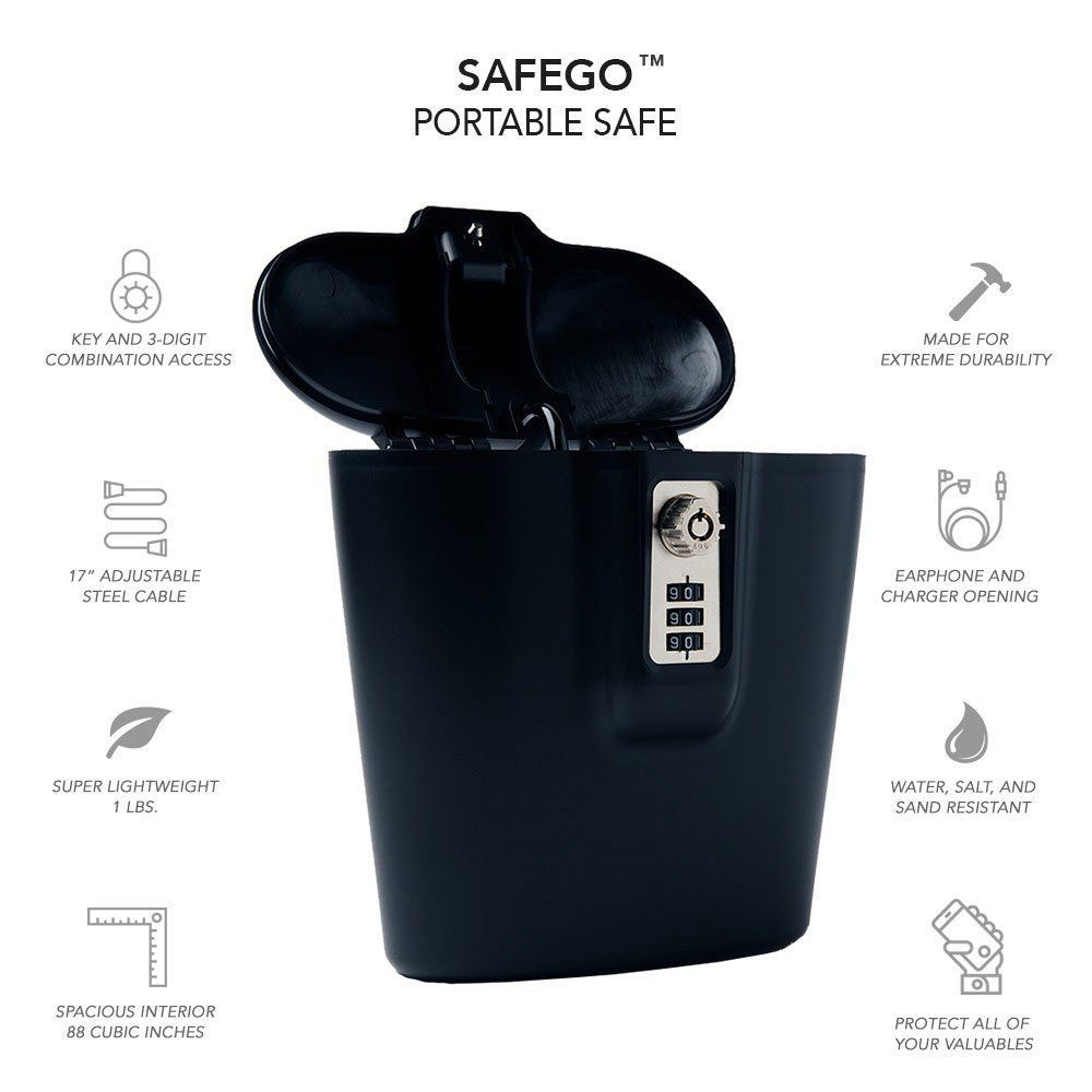 SAFEGO Lock Box - Best Anti-Theft Travel Bags