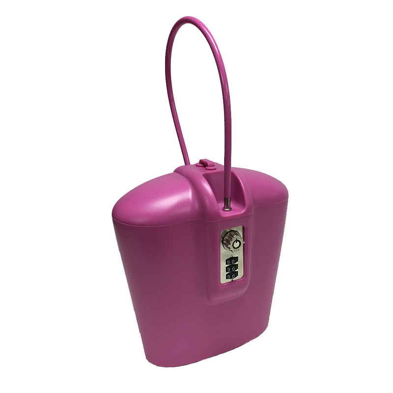 Lightweight pink portable safe with keyless combination lock