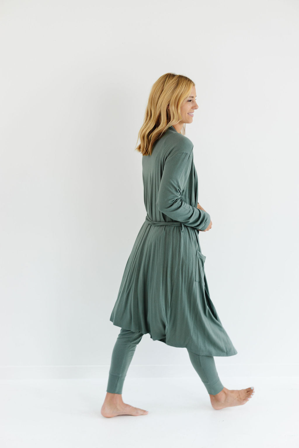 Robe in Basil
