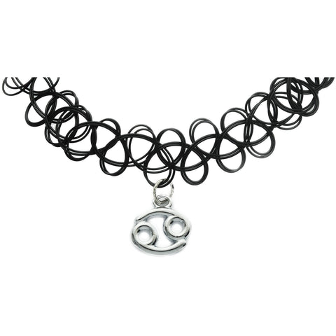 Cancer Zodiac Charm Tattoo Choker
