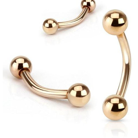 Rose Gold Curved Barbell