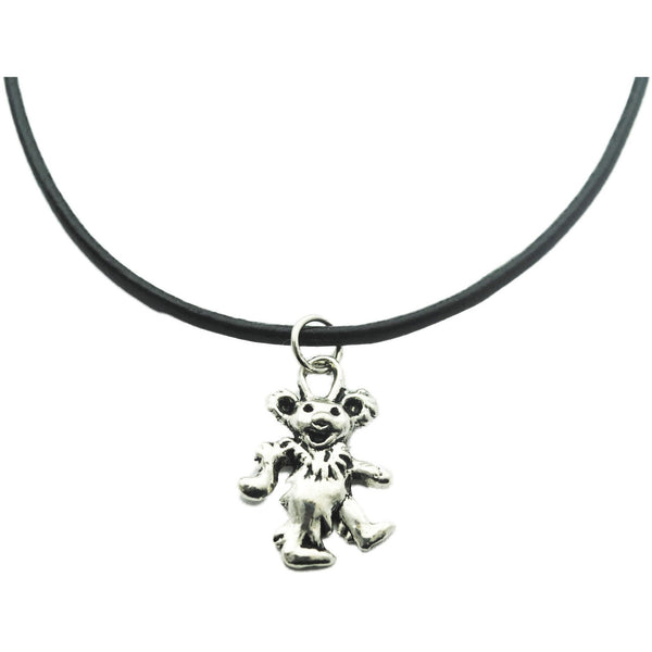 Grateful Dead Bear Charm Choker