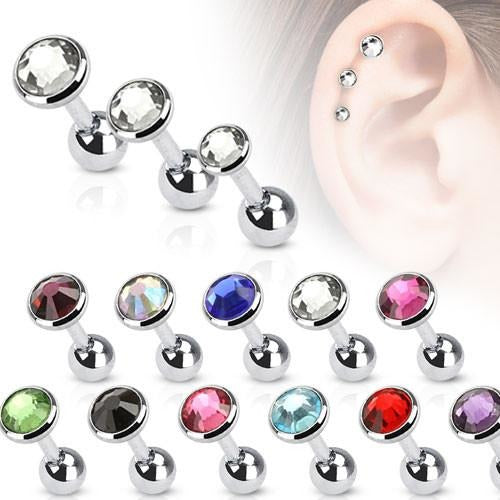 Cartilage Barbell with Gem