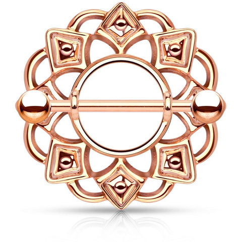 Tribal Nipple Shield Rose Gold