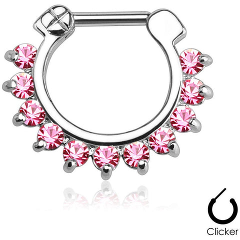 Christina Pink Gem Septum Clicker
