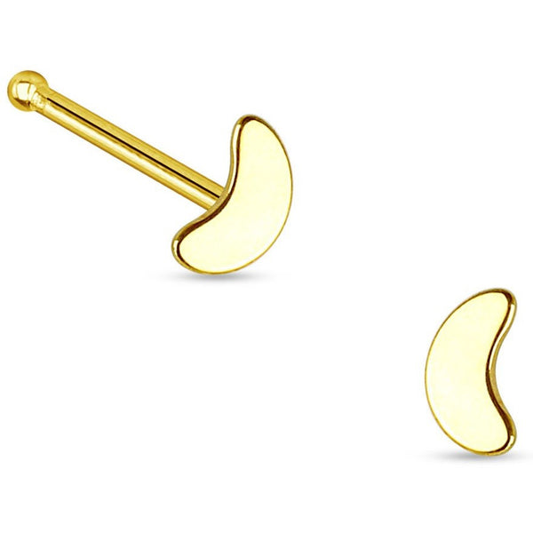 Moon Nose Bone Stud Gold