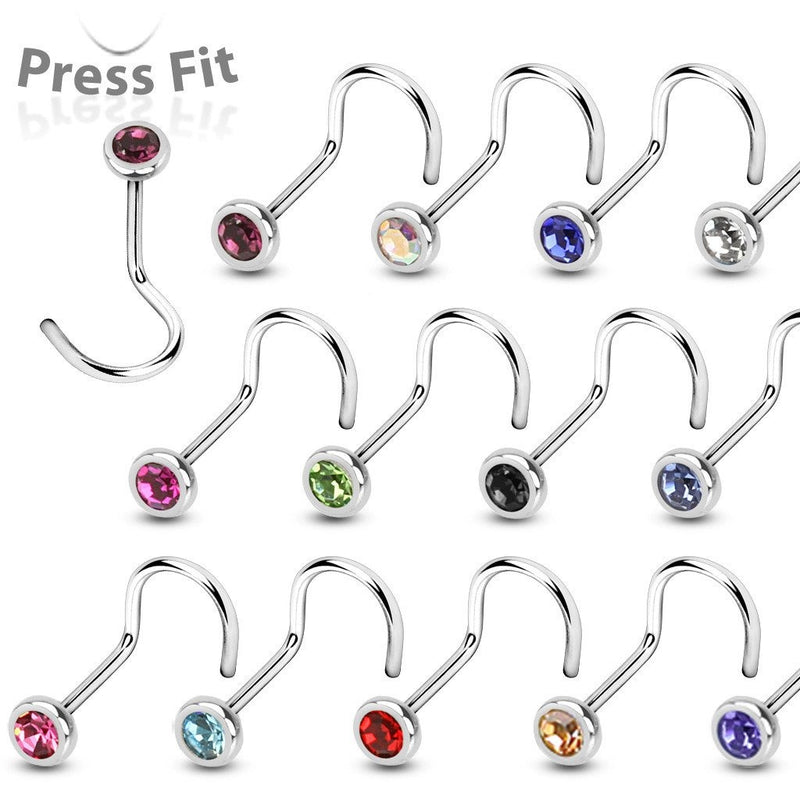 18G Nose Screw Stud