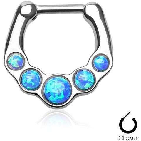 Blue Fire Opal Septum Clicker