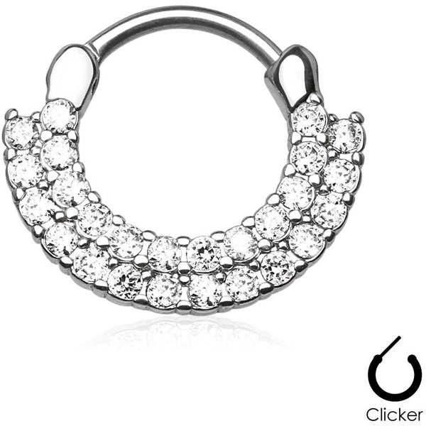 Aztec Goddess Clear Septum Clicker
