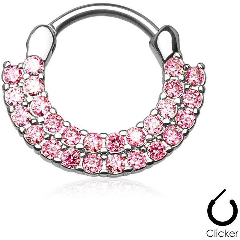 Aztec Goddess Pink Septum Clicker
