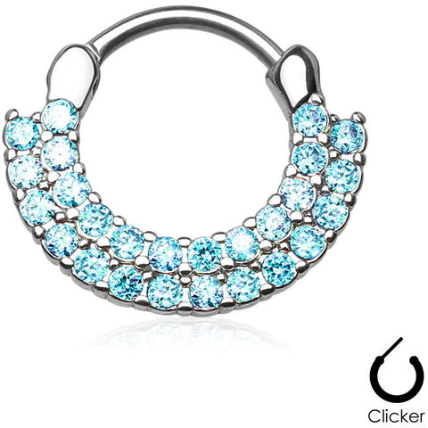 Aztec Goddess Aqua Septum Clicker