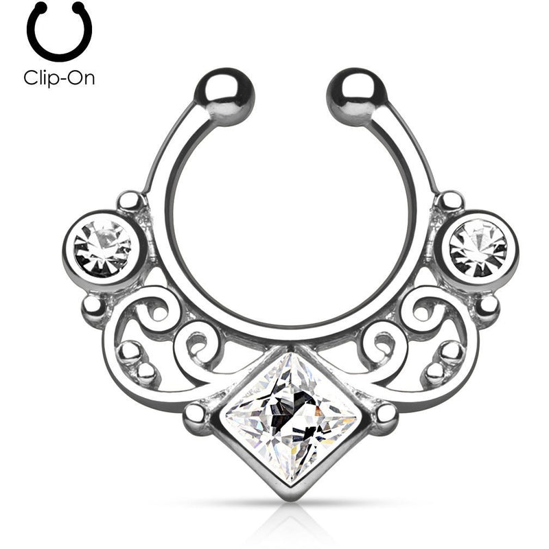 Tribal Goddess Steel Septum Clip-On
