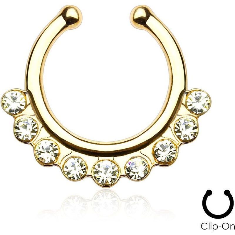 Cynthia Gold Clip On Septum